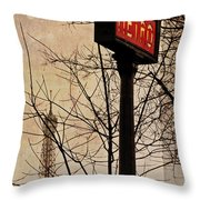 Paris Metro Throw Pillow