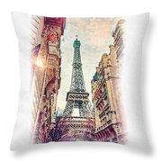 Paris Mon Amour Throw Pillow