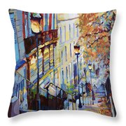 Paris Monmartr Steps Throw Pillow