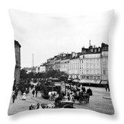 Paris Montparnasse, C1900 Throw Pillow
