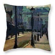 Paris  Morning Throw Pillow