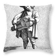 Paris Musician, C1740 Throw Pillow