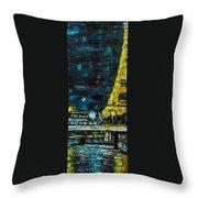 Paris Night Throw Pillow