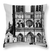 Paris Notre Dame, 1699 Throw Pillow