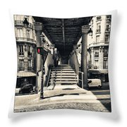 Paris - Old Man Throw Pillow