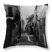 Paris Old Street, C1860 Throw Pillow