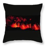 Paris On Fire Throw Pillow