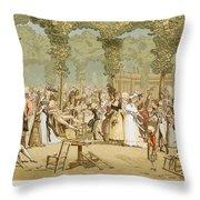 Paris Palais Royal, C1780 Throw Pillow