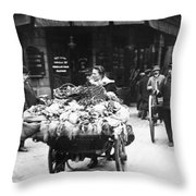 Paris Revictualling Throw Pillow