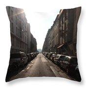 Paris Side Street Throw Pillow