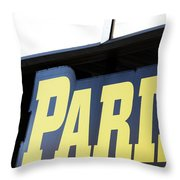 Paris Sign Throw Pillow