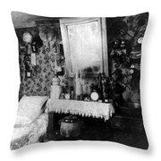 Paris Single Room, C1910 Throw Pillow