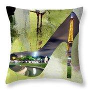 Paris Skyline In A Shoe Throw Pillow