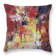 Paris Street Throw Pillow