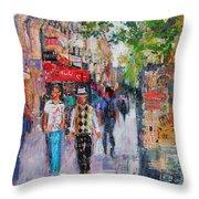 Paris Street Throw Pillow