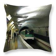 Paris Subway  Throw Pillow