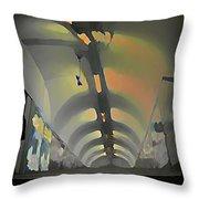 Paris Subway Tunnel Throw Pillow