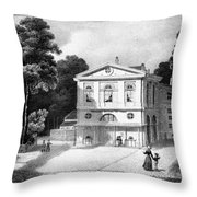 Paris Theatre Royal Throw Pillow