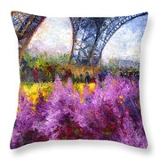 Paris Tour Eiffel 01 Throw Pillow