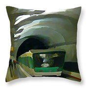Paris Train In Fisheye Perspective Throw Pillow
