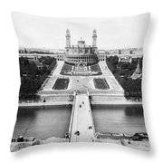 Paris Trocadero, C1900 Throw Pillow