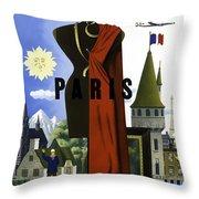 Paris Twa Throw Pillow