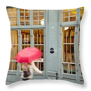 Paris Umbrella Throw Pillow