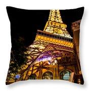 Paris Under The Tower Throw Pillow