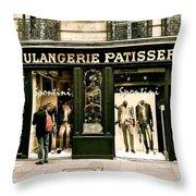 Paris Waiting Throw Pillow