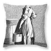 Paris Walnut Vendor, C1740 Throw Pillow