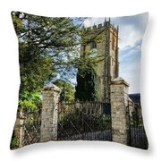 Parish Church Of St Candida And Holy Cross Throw Pillow