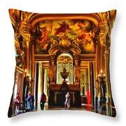 Parisian Opera House Throw Pillow