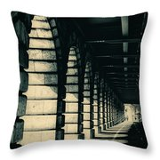 Parisian Rail Arches Throw Pillow