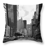 Park Avenue In New York City Throw Pillow