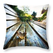 Park Bench Throw Pillow by Eric Gendron