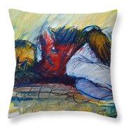 Park Bench Sleeper Throw Pillow