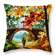 Park Bridge Throw Pillow