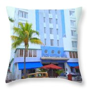 Park Central Hotel Throw Pillow