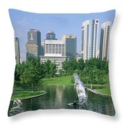 Park In The City, Petronas Twin Towers Throw Pillow