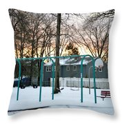 Park In Winter Throw Pillow