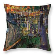 Park Munch Scream  7 Throw Pillow