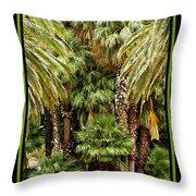 Park Palms Throw Pillow