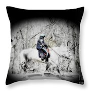 Park Police Throw Pillow by Rrrose Pix