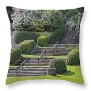 Park Stairs Throw Pillow