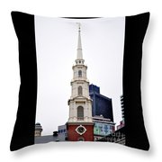 Park Street Church Boston Massachusetts Throw Pillow