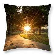 Park Sunburst Landscape Throw Pillow