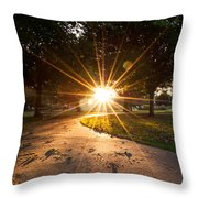 Park Sunburst Portrait Throw Pillow