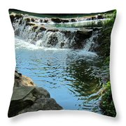 Park Waterfall Throw Pillow