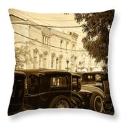 Parked Model A's Throw Pillow