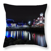 Parker's Lighthouse Reflections Throw Pillow